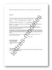Modèle de lettre type - Juge aux affaires familiales - demande ...