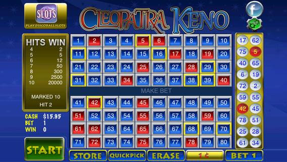 Vegas Casino Games - Free Slots Machine.Cleopatra's Egyptian Keno - Fun Free Game play all day totally free no internet need offline smooth game play with the best bingo and keno with millions of vCash.Level up to unlock new games, bets and more picks.New Best keno game with many bonus games and free vCash and coins.Cleopatra's Egyptian Keno - Fun Free Game Great Features 5 .