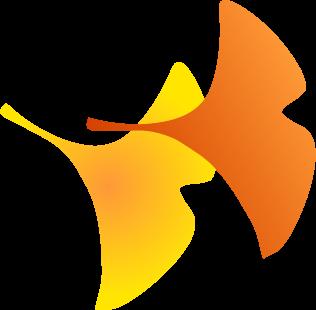 落ち葉紅葉イチョウ銀杏の秋のイラスト 無料イラストフリー素材