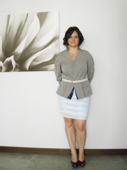 Peplum Ceket tasarımcı moda tasarım design kahve astar dikiş blog kendin dik