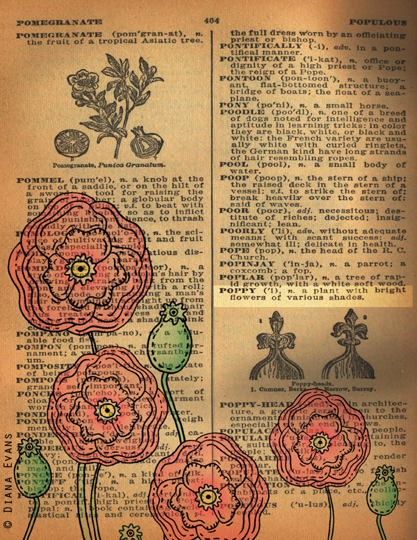 !940s Dictionary poppies