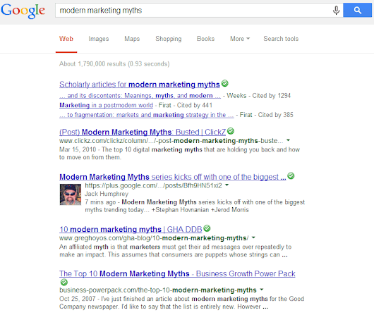 Modern Marketing Myths #2: There is a Google Top 10 - Jack Humphrey