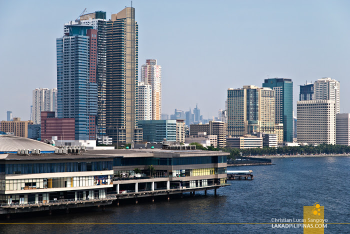 Manila as seen from the Deck of the USS Blue Ridge