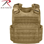 Rothco Molle Plate Carrier Vest Coyote Brown / Regular