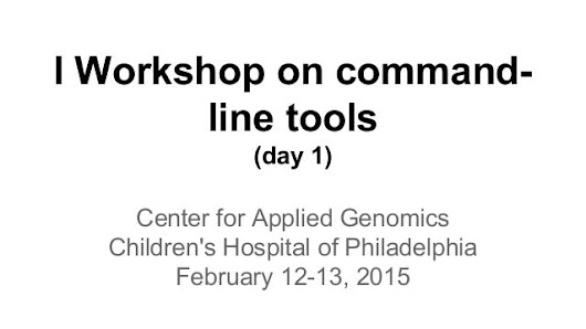 Workshop on command line tools - day 1