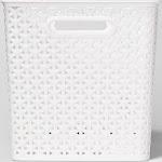 """Y-Weave Basket Bin White 11"""" - Room Essentials"""