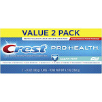 Crest Pro-Health Smooth Formula Toothpaste Clean Mint Paste - 4.6oz/2pk