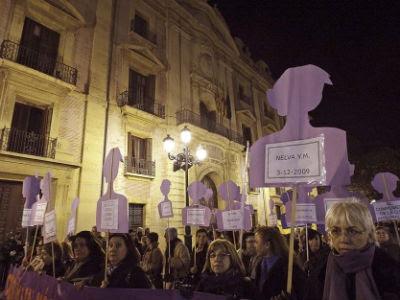 Miles de personas se manifiestan contra la violencia de género en Valencia, en una foto de archivo.