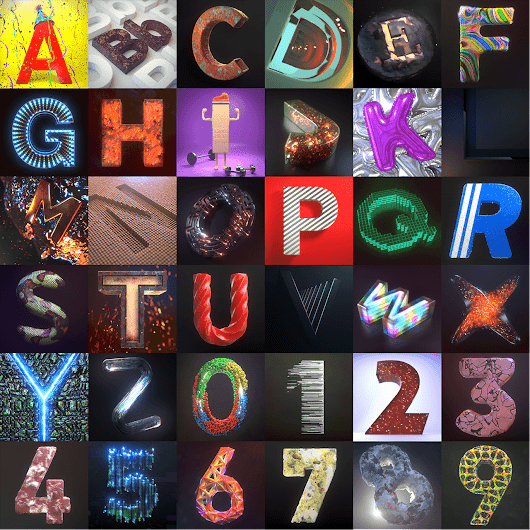 Open Source Artwork: 36 Days of Type - BlenderNation