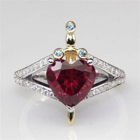 Snow White Evil Queen dagger heart engagement ring