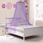 Kids Collapsible Wire Hoop Bed Canopy, Purple