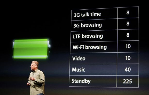 Phil Schiller, senior vice president of worldwide marketing at Apple Inc., talks about battery life of the iPhone 5