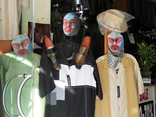 wrestling masks store display
