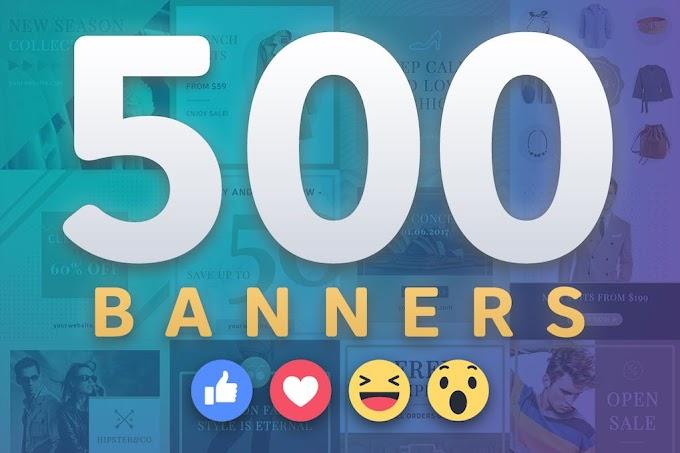 500 Premium Facebook Banners