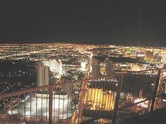 Vista noctura de Las Vegas