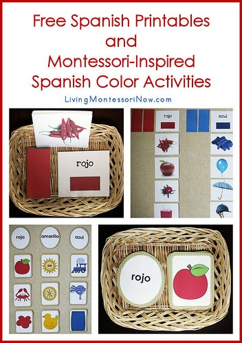 Effortless image throughout free printable spanish color worksheets