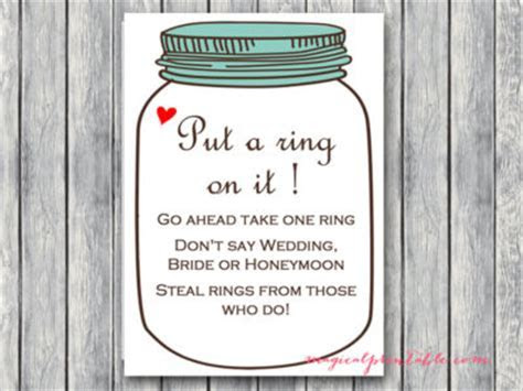 Rustic Mason Jars Bridal Shower Game Package