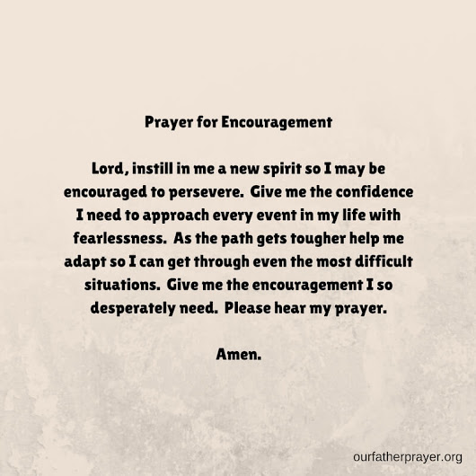 Prayer for Encouragement and Hope ⋆ Our Father Prayer