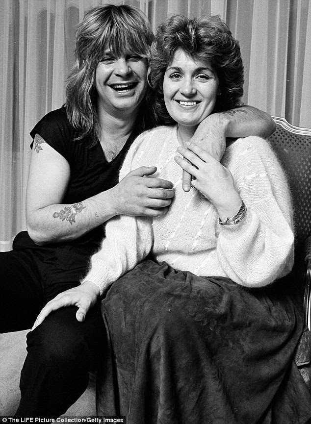 Longtime love: Sharon was pregnant with husband Ozzy's baby when she was attacked by the dogs. They married a couple of years later. The pair are pictured in 1982