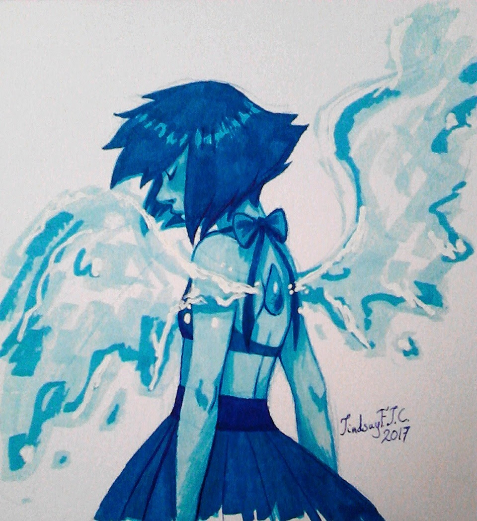 Wanted to draw my girl Lapis Lazuli again~