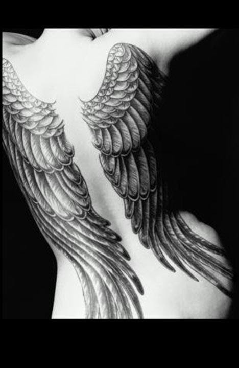 angel tattoos angel wing tattoos