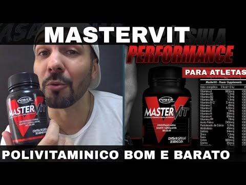 MASTERVIT Polivitaminico Bom Barato e para Atletas da Power Suplements