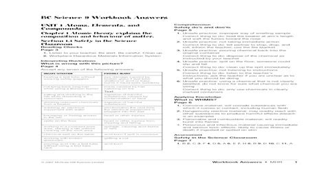 Read Online science-9-workbook-answers Library Binding