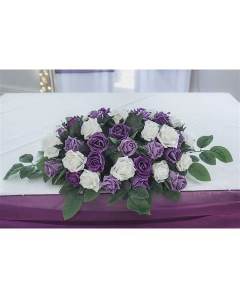Top Table Arrangement   Wedding flower table decoration