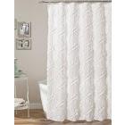 Lush Decor Ruffle Diamond Shower Curtain - White