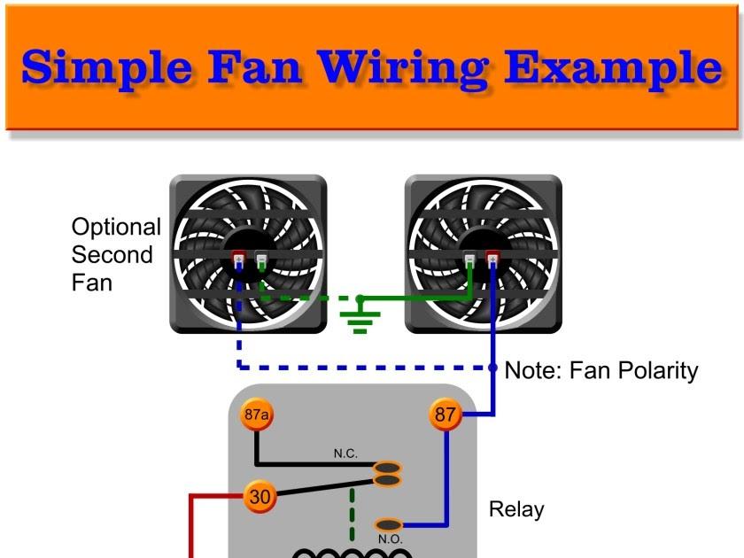 77 Lovely Electric Fan Relay Wiring Diagram
