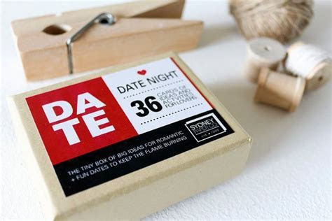 Date Night Cards Gift Box with Big Ideas for fun romantic