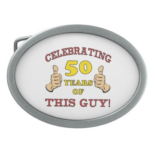 50th Birthday Gift For Him Oval Belt Buckle
