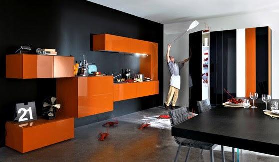 tailacreaciones: Chambre Orange Gris
