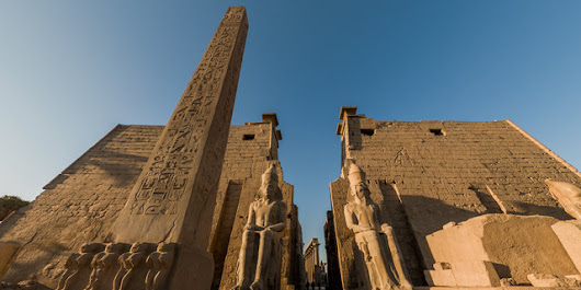 Luxor Temple from Luxor, Luxor City, Luxor, Luxor Governorate, Egypt