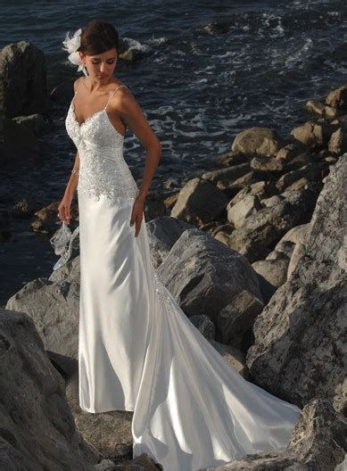 Romantic Lace Beach Wedding Dresses by Maggie Sottero
