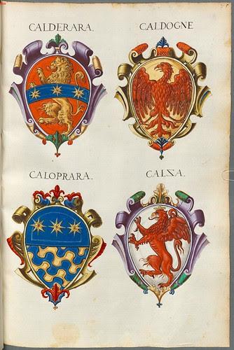 Familienwappen kleinerer Adelshäuser von Vicenza mit Buchstaben c