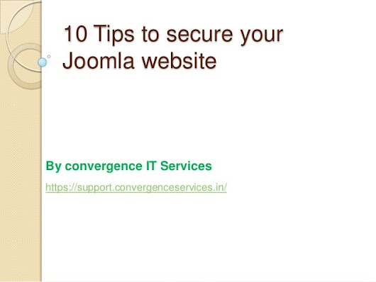 10 Tips to secure your Joomla website from hackers