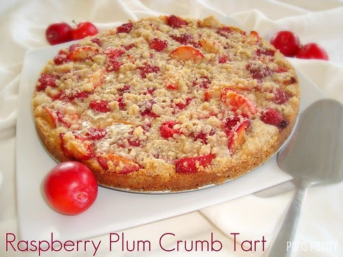 Paris Pastry: Raspberry Plum Crumb Tart