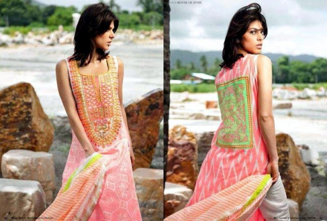 Beautiful-Cute-Girls-Models-Wear-Summer-Eid-Dress-Collection-2013-Lakhani-Silk-Mills-2