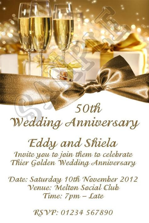50 wedding anniversary invitation : 50th wedding