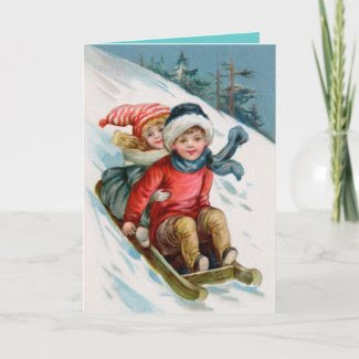 Christmas Card With Matching Postage card