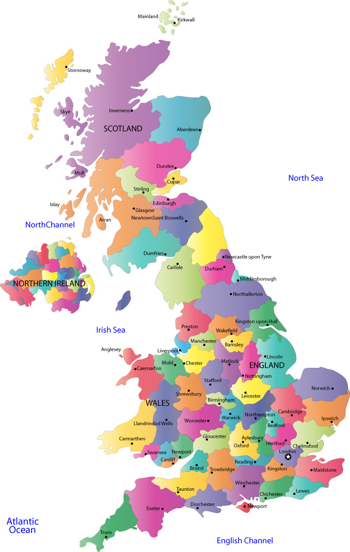 Map Uk Showing Counties | denbtk