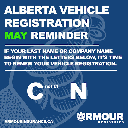 May Vehicle Registration Renewals