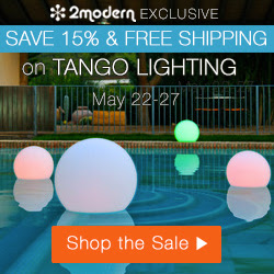15% Off Tango Lighting Exclusively @ 2Modern!