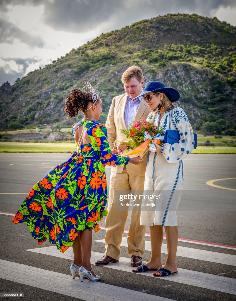 King Willem-Alexander and Queen Maxima visit St Eustatius : News Photo