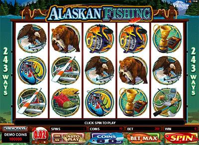 Запускайте игровой автомат Alaskan Fishing с высоким уровнем отдачи - 96,63%.В слоте Рыбалка На Аляске есть фриспины с удвоением призов, бонус-игра, Вайлд и Скаттер.