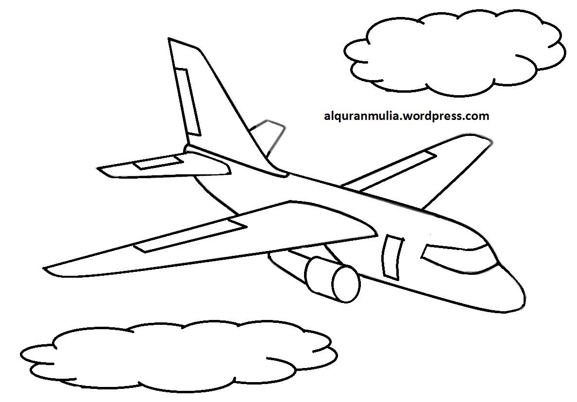 Koleksi Mewarnai Pesawat Terbang Anak Tk