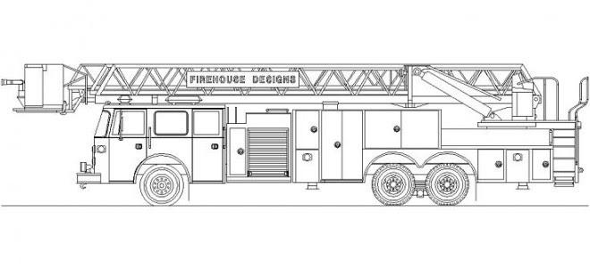 Itfaiye Aracı çizimi Itfaiye Aracı Dwg Autocad Itfaiye Aracı