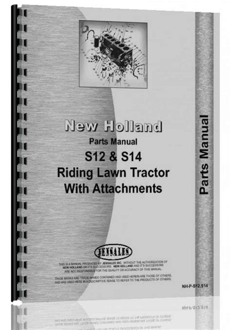 New Holland S12 Lawn & Garden Tractor Parts Manual