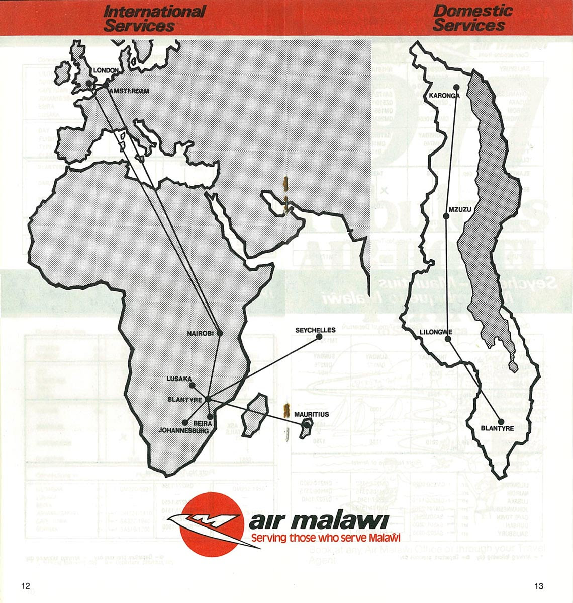 Air Malawi's once prolific network
